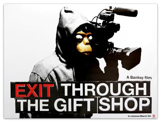 Exit through the gift shop: é um filme dirigido por um cara que usa máscara de macaco.