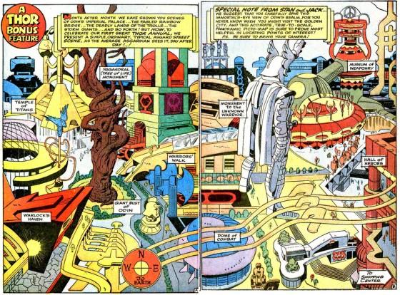 A Asgard dos quadrinhos