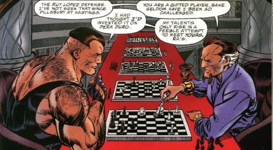 Jogando xadrez com Ra's Al Ghul...