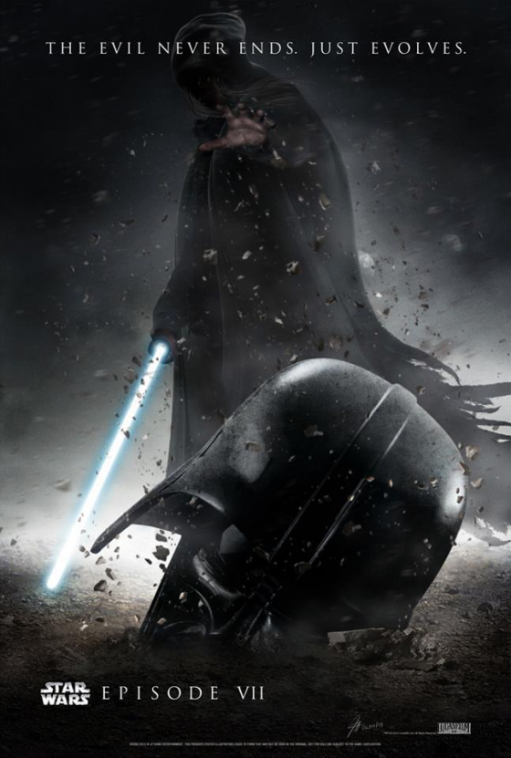 Cartaz do novo episódio de Star Wars feito por fã.