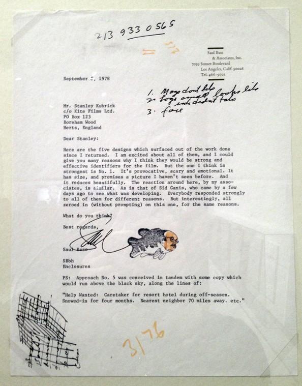 Carta escrita por Saul Bass para defender suas propostas.